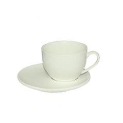 13640-02 Чашка с блюдцем белая (чашка-260мл, блюдце-15см)