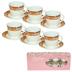 30055-15014 Tea set 12 pr (cup-190ml, saucer-14cm) 'Melody of spring'