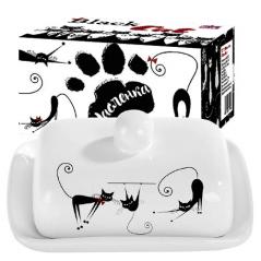 3397-12 Масленка 'Черная кошка' (размер 13*17, h-5,5)
