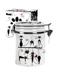 629-12 Емкость для сыпучих продуктов 0,75л 'Черная кошка' (d-9,5см, h-11)
