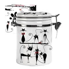 631-12 Емкость для сыпучих продуктов 1,2 л. 'Черная кошка' (d-10см, h-16)