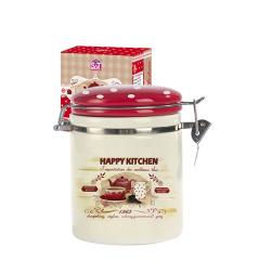 629-11 Емкость для сыпучих продуктов 0,75л 'Happy Kitchen' (d-9,5см, h-11см)