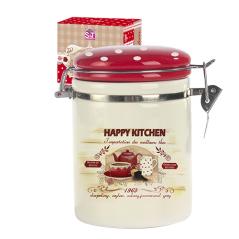 631-11 Емкость для сыпучих продуктов 1,2 л. 'Happy Kitchen' (d-10см, h-16)