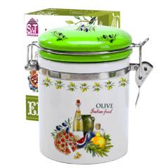 631-13 Емкость для сыпучих продуктов 1,2 л. 'Итальянские блюда' (d-10см, h-16)