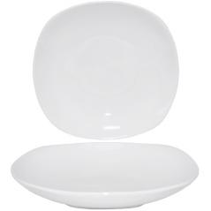 13607 Тарелка белая 9 супная (квадрат) Хорека