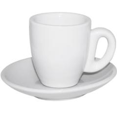 13629-05 Чашка с блюдцем белая (чашка-60 мл, блюдце-11,5 см)