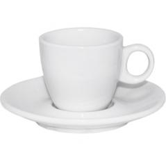 13629-06 Чашка с блюдцем белая (чашка-90 мл, блюдце-12,5 см)