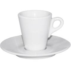13629-08 Чашка с блюдцем белая (чашка-60 мл, блюдце-12 см)