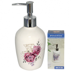 888-04-002 Диспенсер для мыла '<a href='http://snt.od.ua/ru/poisk.html?q=Цветы' />Цветы</a>' 6,5*17 см
