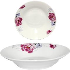 30083-005 Тарелка суповая 8' Розовый пион