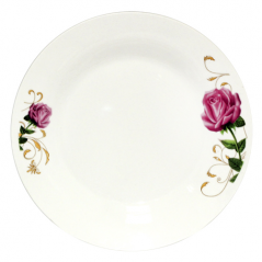 30081-007 Тарелка  8' Бордовая роза