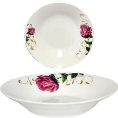 30083-007 Тарелка суповая 8' Бордовая роза