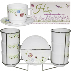 30080-110 Set tea 12pr. Spring flowers on the rack (250ml)