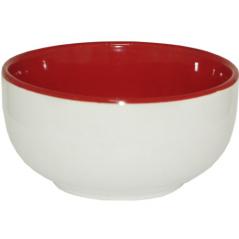 3570-4 Миска 400мл бело-красная