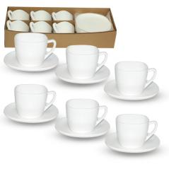30122-02 Набор кофейный 120мл Белый квадрат