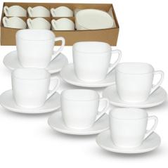 30123-02 Набор чайный 210мл Белый квадрат