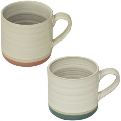 3575-19 Чашка <a href='http://snt.od.ua/ru/poisk.html?q=Микс 4' />Микс 4</a>00мл 2цв.(белая с розовым ободком или белая с голубым ободком)