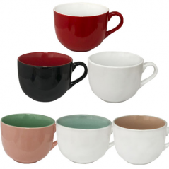 2034-09 Чашка Дужа микс 540мл вариант от 1 до 7 цв.