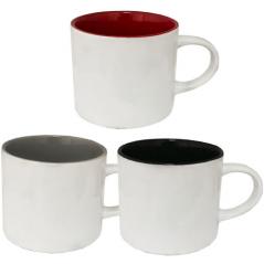 3577-5 Чашка Микс 500мл вариант от 1 до 3 кол белая снаружи