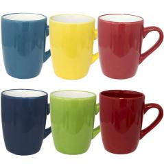 040-01-50-1 Чашка микс 400мл от 1 до 6 цв. - цветная снаружи