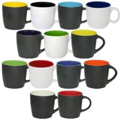 3576-4 Чашка 380мл микс вариант от 1 до 9 цв. черная снаружи (36)