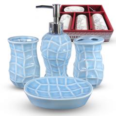 888-140 Набор аксессуаров для ванной комнаты 4 пр. Классика однотон