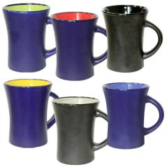 4165-06 Чашка Черная снаружи микс 300мл вариант от 1 до 6 цв.