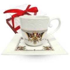 2320-3 Чашка с блюдцем Лаура (чашка - 220мл,блюдце - 14см)