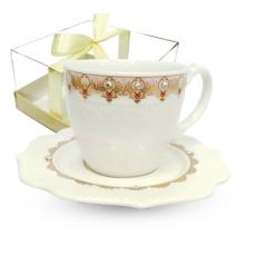 2320-5 Чашка с блюдцем Анжелика (чашка - 220мл, блюдце - 14,5см)