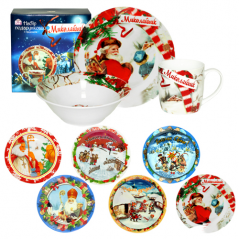 5136 A set of 3 subjects Christmas