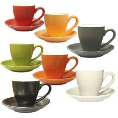 13652 Чашка с блюдцем цветная вариант от 1 до 8 цв (чашка-180мл,блюдце-14см)
