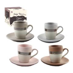 1517-11 Набор чайный 12 пр. на стойке 'Суфле' (чашка - 220 мл; блюдце - d-13 см)