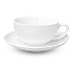 13641-10 Чашка с блюдцем белая (чашка-300мл,блюдце-16см) Хорека