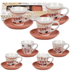 1533-15 Набор кофейный 12пр Реснички (чашка - 80мл, блюдце - 11,2см)