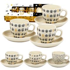 1533-16 Набор кофейный 12пр Иллюзия (чашка - 80мл, блюдце - 11,2см)