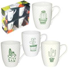 1591-07 Набор 4 чашки Cactus в подар. упаковке 350мл