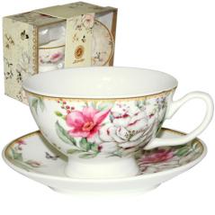 042-01-07 Набор чайный подарочный (чашка с блюдцем) Патисьер (блюдце - 13,5см, чашка - 200мл)