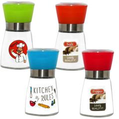 7032-2 Мельница для соли и перца 180мл 'Правила кухни'