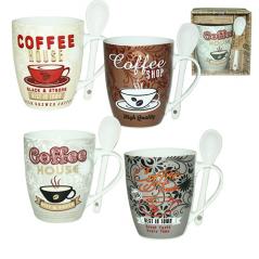 2063-12 Чашка с ложкой 360мл <a href='http://snt.od.ua/ru/poisk.html?q=Кофе' />Кофе</a> шоп