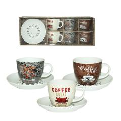 1462-12 Сервиз чайный 12пр. <a href='http://snt.od.ua/ru/poisk.html?q=Кофе' />Кофе</a> шоп (чашка - 220мл, блюдце - 14,5см)