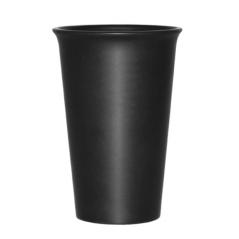 4182 Стакан керамический черный 440мл