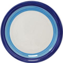 557-001 Тарелка 10,5' A Синий ободок