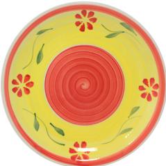 557-001 Тарелка 10,5' C Красный цветок