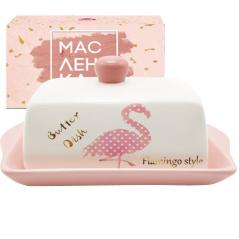 700-02-13 Масленка 'Фламинго' (размер: 20*13; h-10,4)