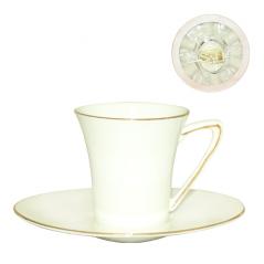 170-05 Сервиз чайный 12пр Кантилена Limited edition (чашка 100мл, блюдце 13,5x11,5см)