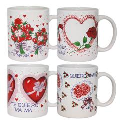 209-09 Чашка Любимой мамочке 320мл вариант от 1 до 4 цв.