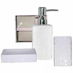 887-03-01 Набор аксессуаров для ванной комнаты Аметист  3пр