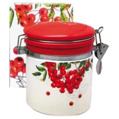 630-14 Емкость для сыпучих продуктов 0,5л 'Калина красная' (h-10см, d-9,5см)
