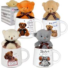 040-01-102 Чашка с игрушкой 300мл Тедди в подар.уп