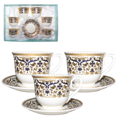146-01 Сервиз чайный 12пр (чашка-180мл,блюдце-13см) Нефертити